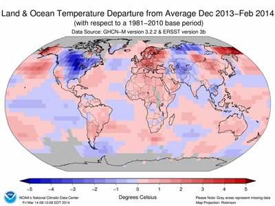 The world's warm winter Image