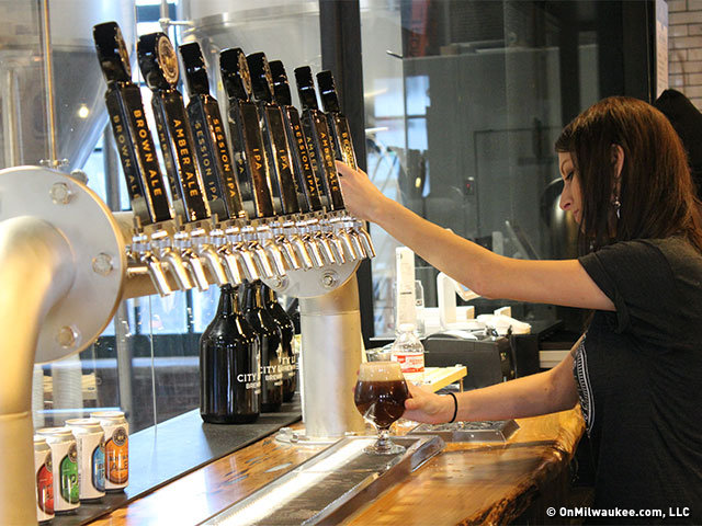 10 images and fun facts from the new city lights brewery and tap settle in and order up a draft at the new city lights brewing company aloadofball Image collections