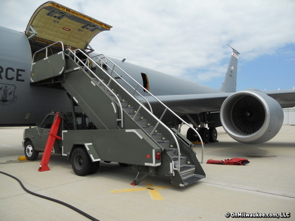 "The KC-135R ""Stratotanker"" - our transportation for the day."