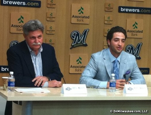 Their fortunes tied together, Doug Melvin and Ryan Braun should both be getting something for their respective trophy rooms very soon.