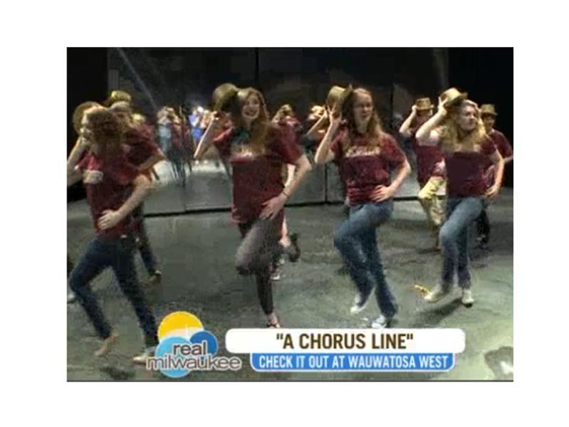 "WITI-TV's ""Real Milwaukee"" featured Wauwatosa West's performance of ""A Chorus Line"" in April."