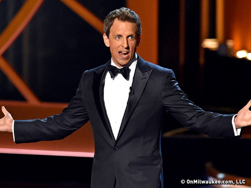 Seth Meyers hosted the 66th Primetime Emmy Awards.