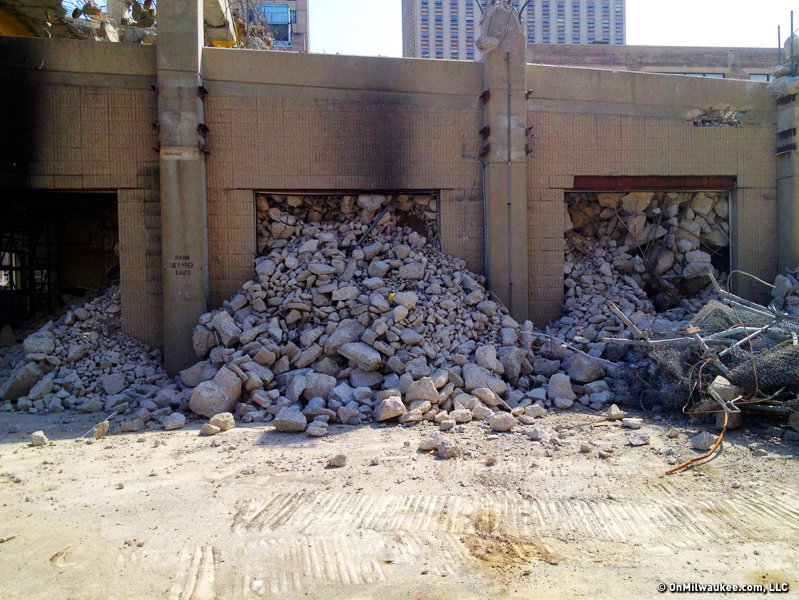 It's true. I take photos of most everything, like this image from the demolition of a parking structure on 6th and Wells.