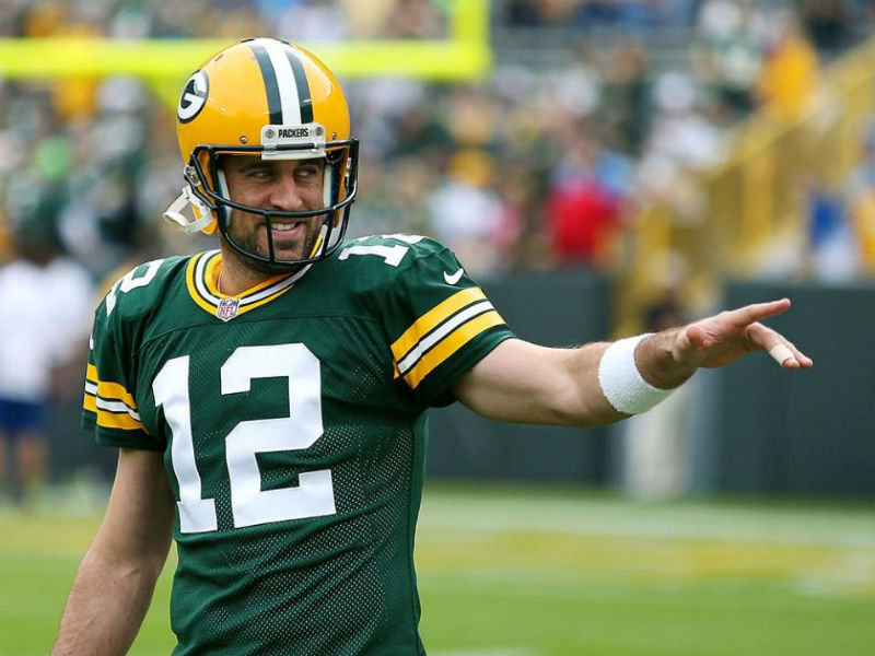 101d2b05c Would Aaron Rodgers be happy with his No. 56 ranking on ESPN s list of the  world s most famous ...