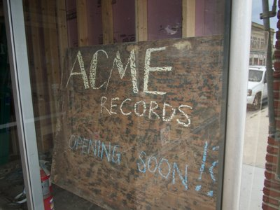 Acme Records is an outlet for Shopkeeper's vinyl passion