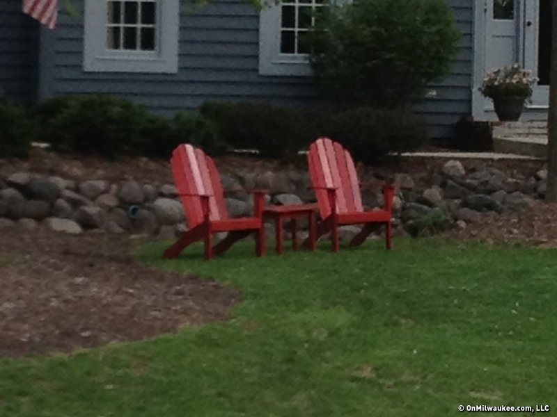 Adirondack chairs grace many front yards, too.