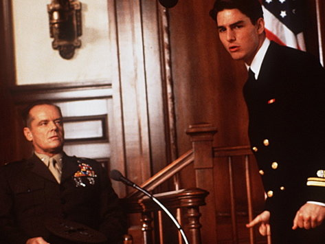 "Jack Nicholson (left) and Tom Cruise make ""A Few Good Men"" hard to turn off."