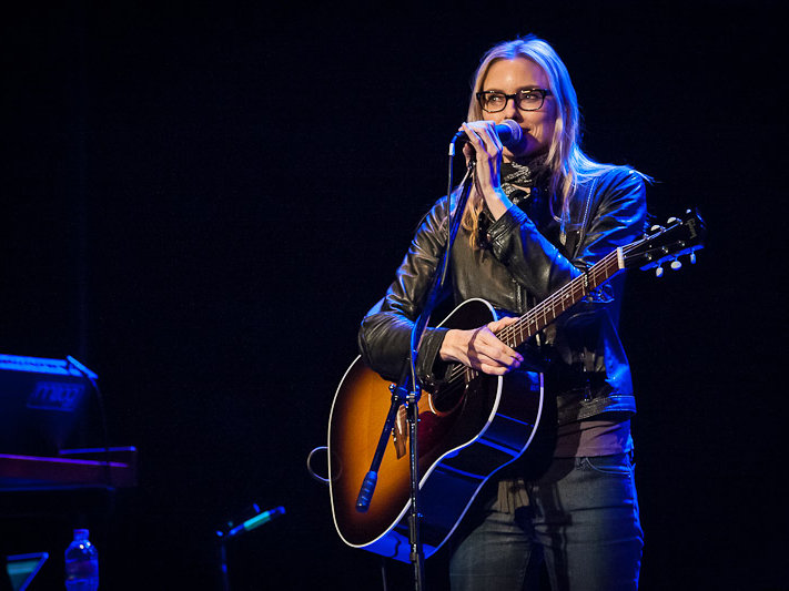 "Aimee Mann performed Sunday night in support of her new album, ""Charmer."""