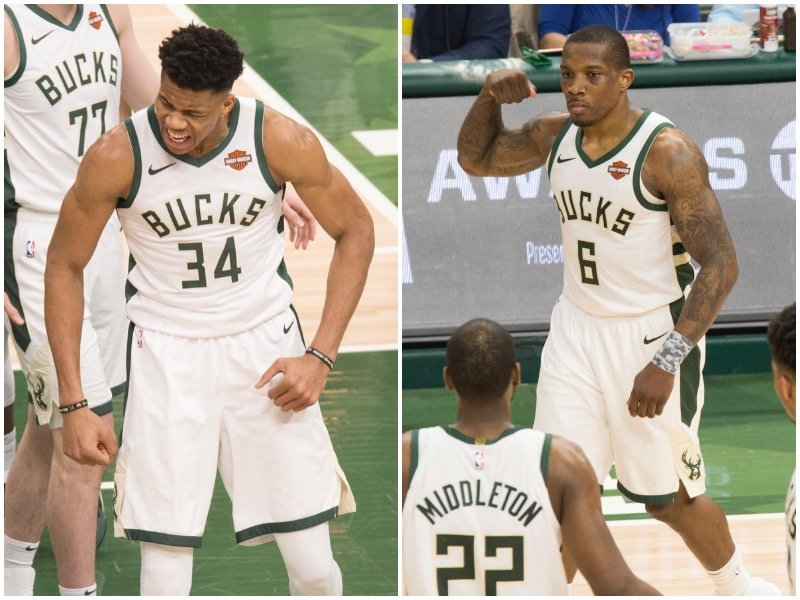 ee8e9404dcb Happier days ahead  Eric Bledsoe and Giannis named to the All-Defense  first-team - OnMilwaukee
