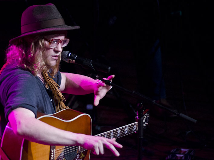 Allen Stone performs at Turner Hall Wednesday night.
