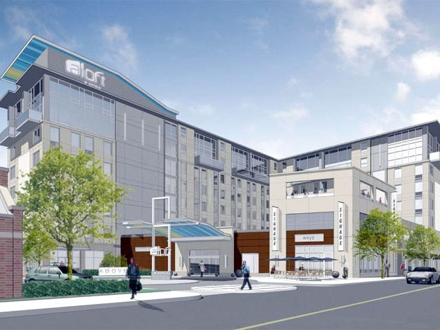 An early rendering of the Aloft project.