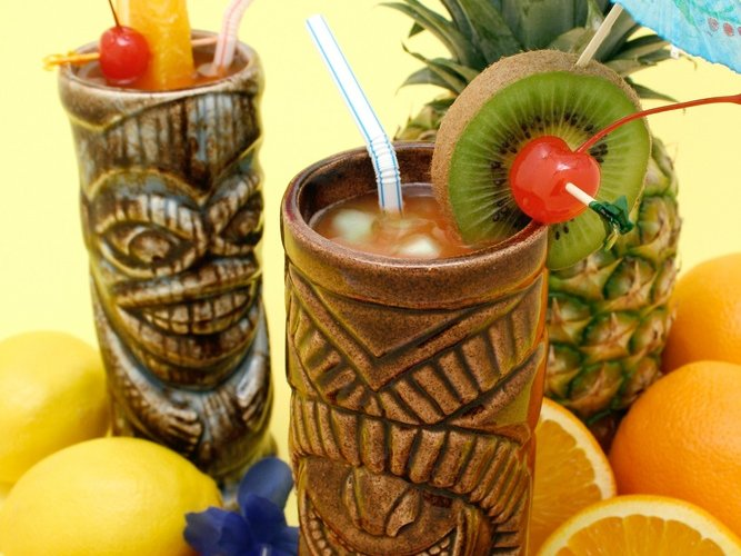 A tiki drink is not a tiki drink unless it's served in a tiki glass.