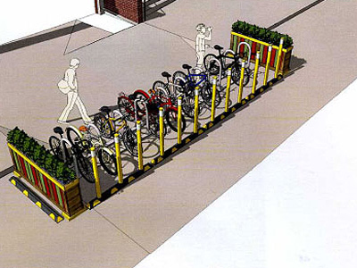 Alterra creating new bike corral on Prospect Avenue Image