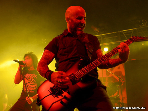 "Anthrax finished their tour for ""Worship Music,"" their first CD in eight years, at The Rave Saturday."