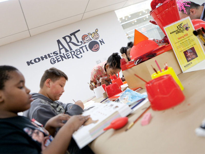 The Kohl's Art Generation Studio at Milwaukee Art Museum is a great place for kids and adults to work together creating art.