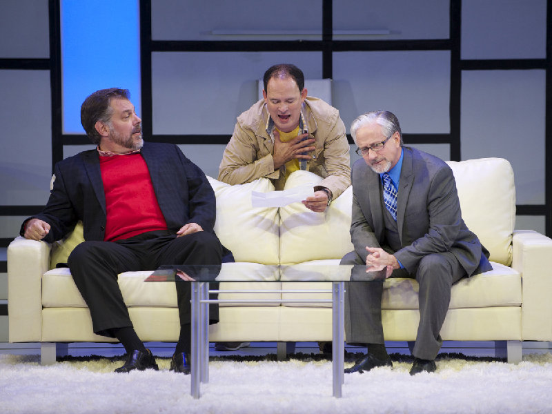 "Brian Mani, Tom Klubertanz and C. Michael Wright in Yasmina Reza's ""Art."""