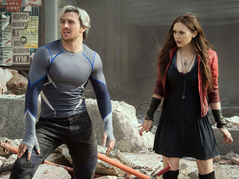 "Quicksilver and Scarlet Witch join the fight in ""Avengers: Age of Ultron,"" released on Blu-ray and DVD this month."