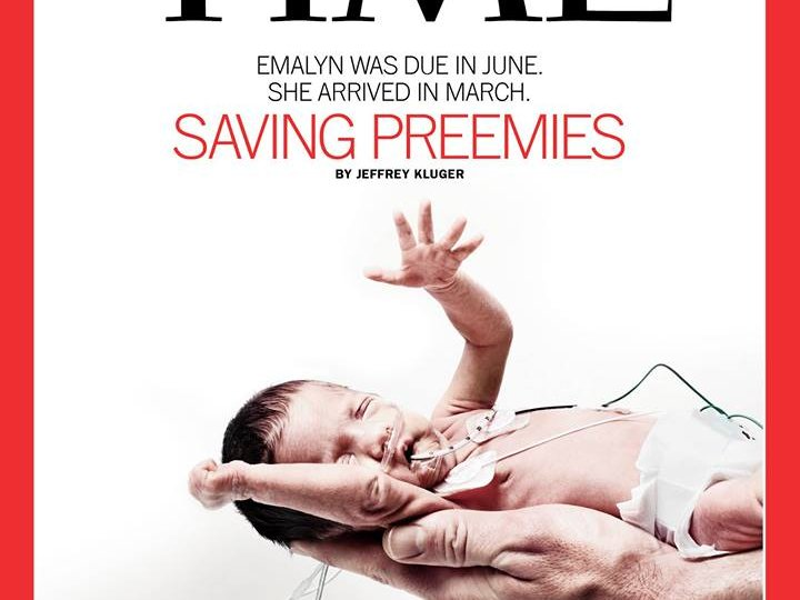 Children's Hospital of Wisconsin NICU and baby Emalyn made Time's print cover.