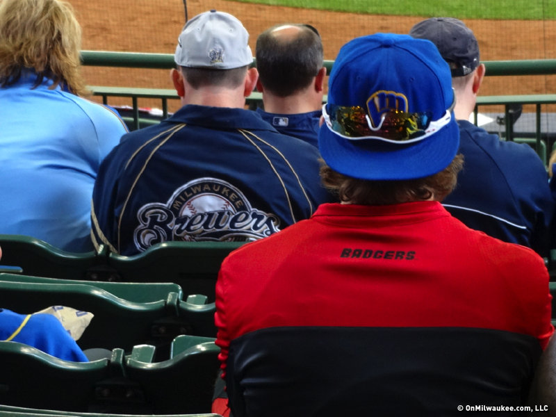 Badgers red became the unofficial alternate color of the Brewers on Opening Day at Miller Park.