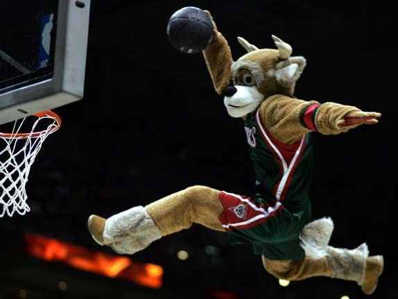Bango can perform conventional dunks, too. But, adding a ladder gained him national attention.