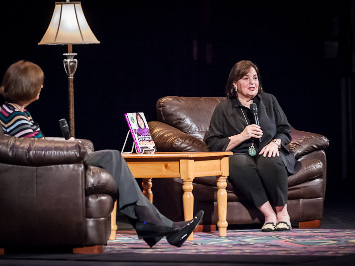 Ina Garten, the Barefoot Contessa, answers questions at her appearance at the Riverside Theater.