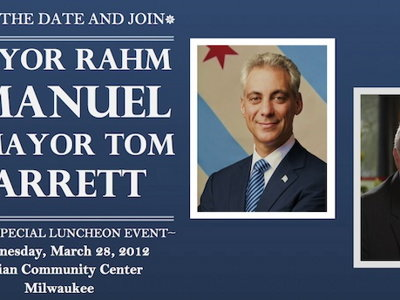 Rahm Emanuel to join Mayor Barrett for lunch event in March