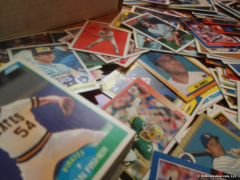 Going through old baseball cards was a trip down memory lane.