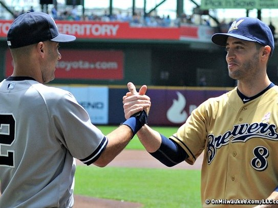 The Brewers squared off against the Yankees last weekend.