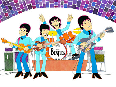 Beatles cartoonist Image