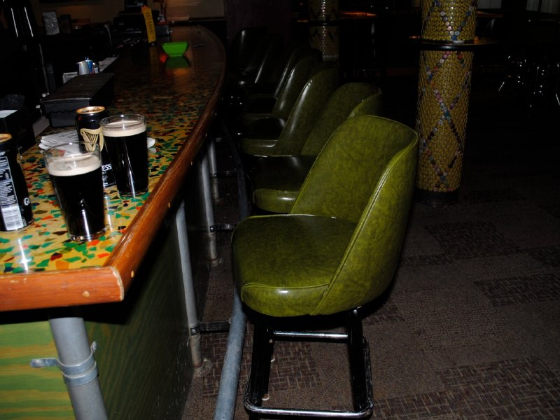 Art Bar Has The Comfy Bar Seating Trifecta: Stools With Backs, Purse Hooks  And A Foot Rail.