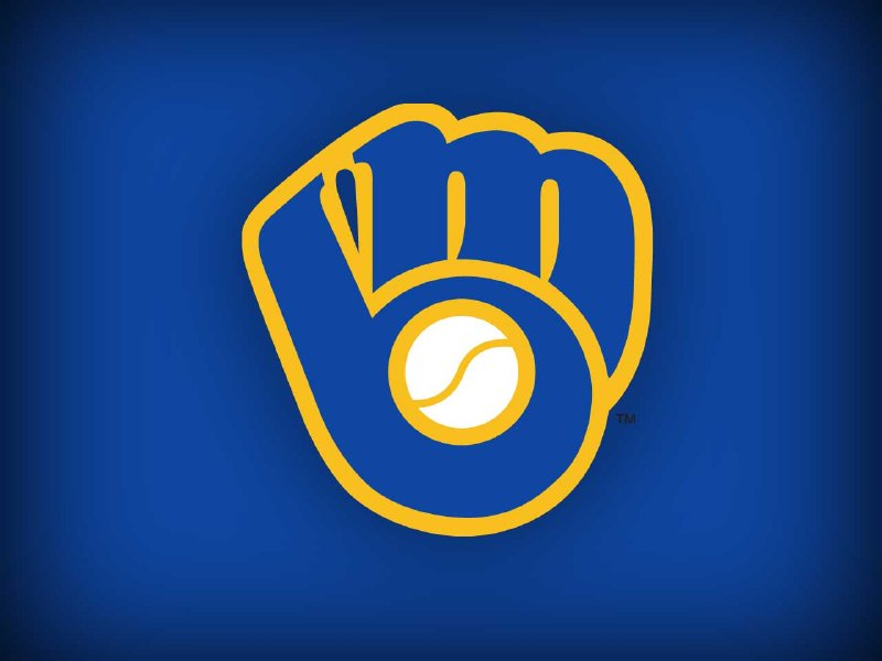 My favorite logo of all time, the Brewers' ball-and-glove logo.