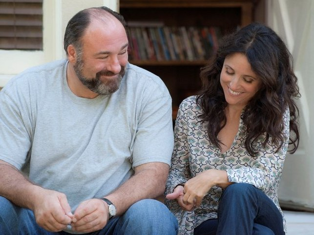 "James Gandolfini and Julia Louis-Dreyfus were one of the year's sweet romances in ""Enough Said."""