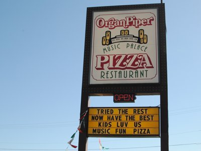 Milwaukee's best restaurant, Southern Suburbs, 2011: Organ Piper Music Palace
