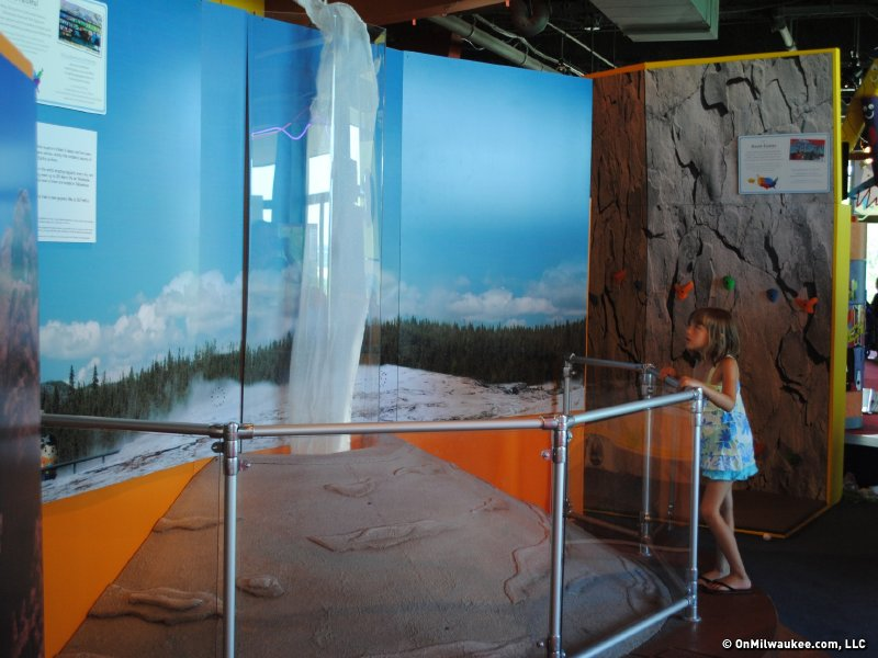 Make a geyser spray at the new Betty Brinn exhibit.