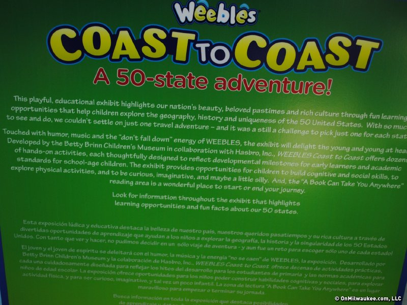"""Weebles Coast-To-Coast"" runs through Sept. 16, 2012."