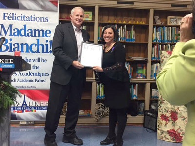 French Immersion principal honored by France and - surprise! - Milwaukee