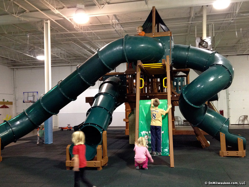 Superb The Giant Playset Has Tube Slides And Climbing Walls.