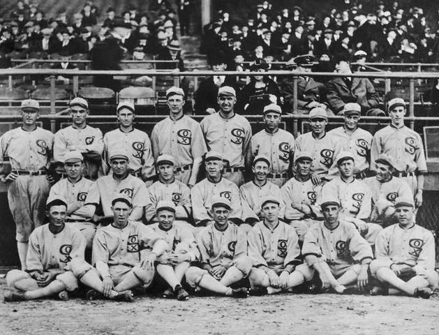 "Members of the 1919 Chicago White Sox, the ""Black Sox,"" remained banned by MLB for throwing the World Series."