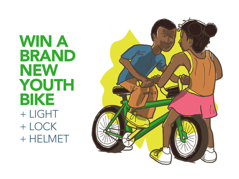 Your child can win a bike.
