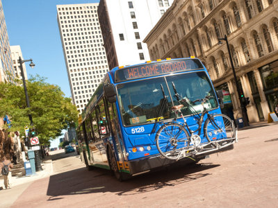 Unclaimed bus bikes Image