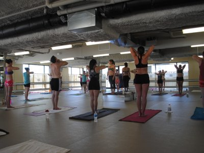 First-time student survives Bikram yoga class