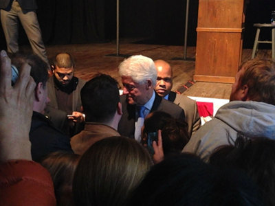 Bill Clinton stumps for Hillary at Turner Hall