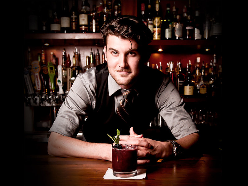 Dufek is a serious bartender who makes seriously interesting cocktails.