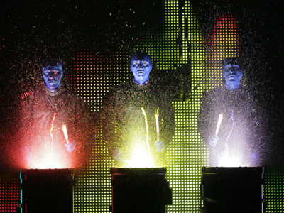 The man behind a Blue Man Image