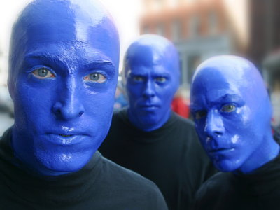 Blue Man talks makeup, music and about the show