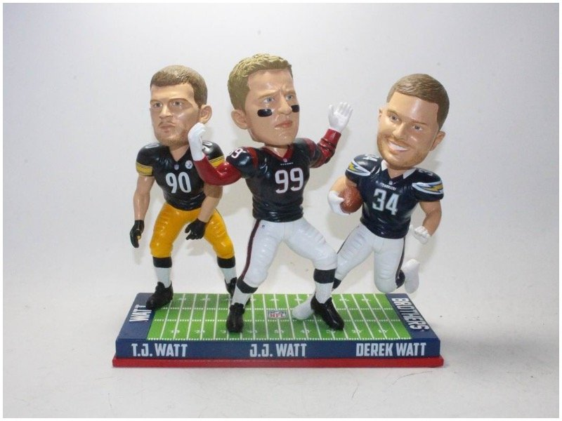 a44ceb790 National Bobblehead Hall of Fame unveils Watt Brothers NFL triple ...