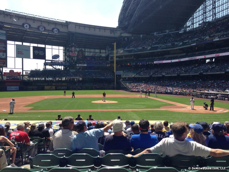 It wasn't just the temperature that was hot at Wednesday's Brewers game.