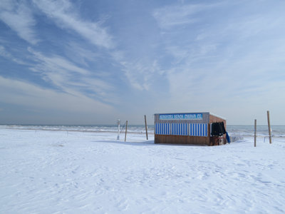 Bradford Beach in the wintertime