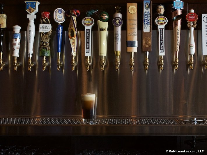 The brass tap brings beer options to greenfield