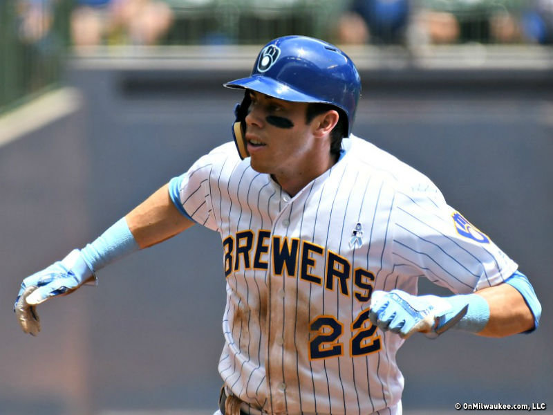 pretty nice 44566 bec87 Sudden NL MVP candidate Christian Yelich does it all in ...